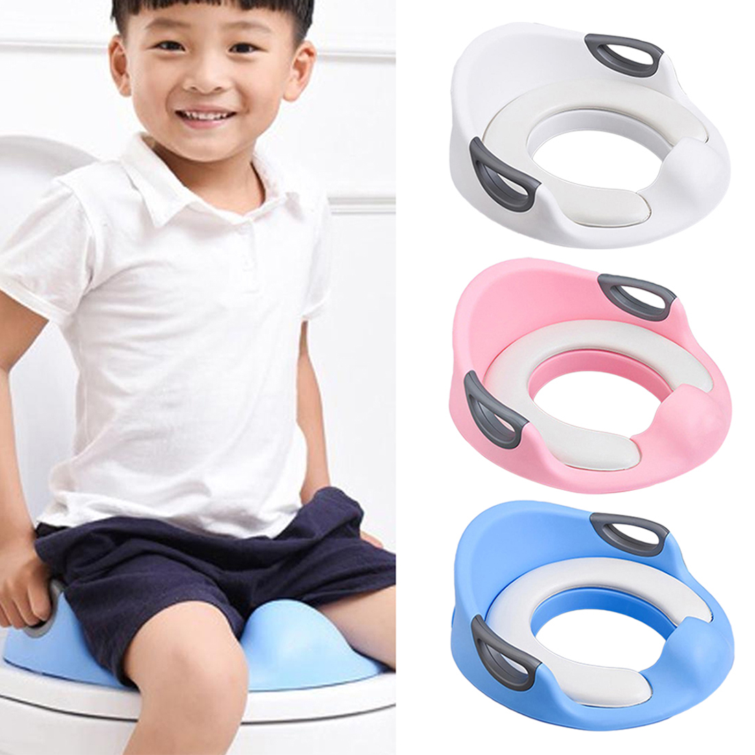 Child Multifunctional Potty Baby Travel Potty Training Seat Portable Toilet Ring Kid Urinal Comfortable Assistant ToileChild Multifunctional Potty Baby Travel Potty Training Seat Portable Toilet Ring Kid Urinal Comfortable Assistant Toile