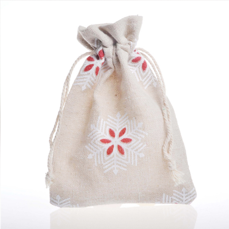 ✓Navidad regalo Bolsas 10x14 cm nieve flor impreso pequeño ...