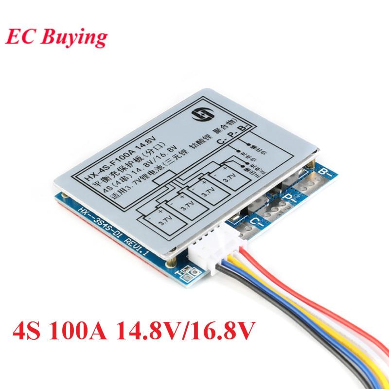 Флюоресцентная плата BMS PCM с защитой от перезаряда и разряда 14,8 а 16,8 в/18650 в, литий-ионный аккумулятор