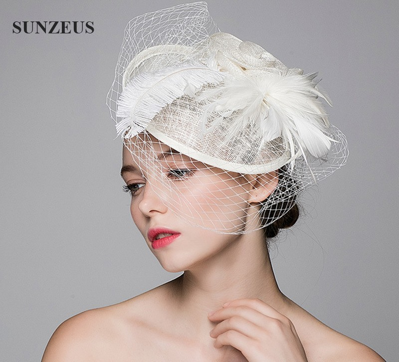 Online Shop Beautiful Wedding Hat Veils Linen Tulle Adult Bride ...