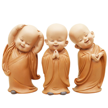Cartoon Monk Ornaments Resin Crafts Creative Decor Car Wedding Deskstop Model Home Decoration Accessories Birthday Gift Toy