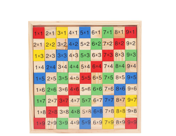 Montessori Wood Multiplication Table Wooden Children Educational Toys 99  Arithmetic Math Toy Figure Building Blocks Christmas Gift (6)