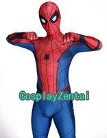 Yeni Spiderman Homecoming Çocuklar/Yetişkin Örümcek Adam 3D Gölge Spandex Cosplay Zentai Suit