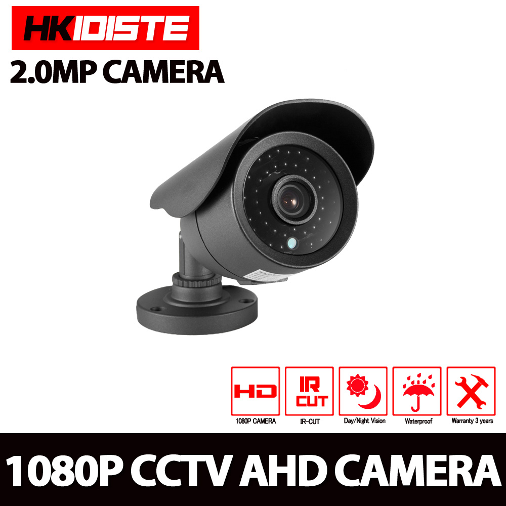 HD Analog Waterproof Outdoor 2MP AHD Camera 1080P CCTV Camera Night Vision Security Cam IR Cut Work For AHD DVR Recorder hd 720p 1080p dome ahd camera 1mp 2mp cmos security video hd analog camera night vision ir 20m cctv camera for ahd dvr