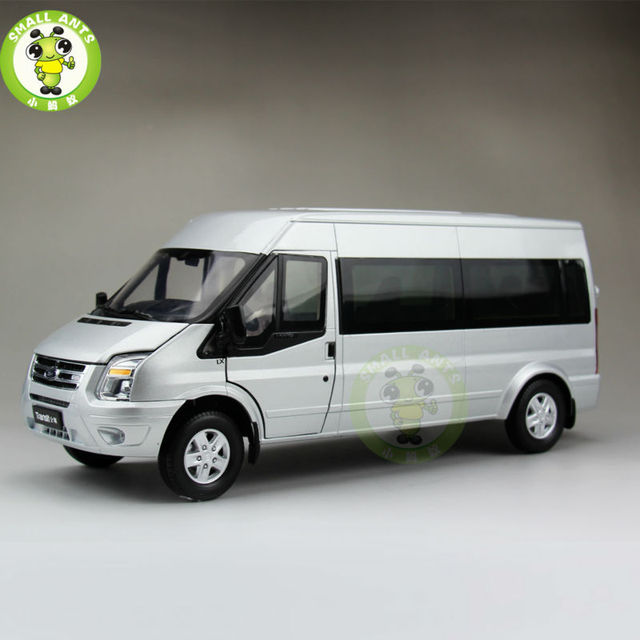 Scale China Ford Transit Mpv Business Vehicle Carcast Car Model Silver
