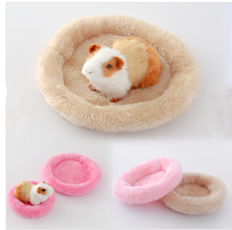 Pet Sleeping Bed Hamster Sleeping Bed Dog Soft Fleece Guinea Pig Bed Winter Pet Supplies Small Animal Cage Mat 5colors