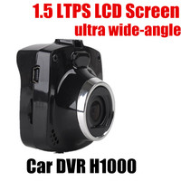 Free shipping car DVR video Recorder FULL HD 1.5 inch TFT screen 120 degree wide angle camcorder