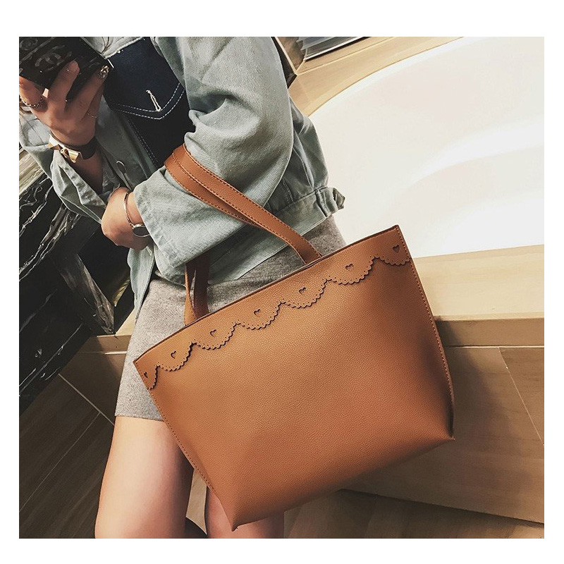 Fashion Women Lace Leather Handbags Ladies Ruched Solid Corssbody Messenger Bags Girl Shoulder Bags Casual Tote Extra Large