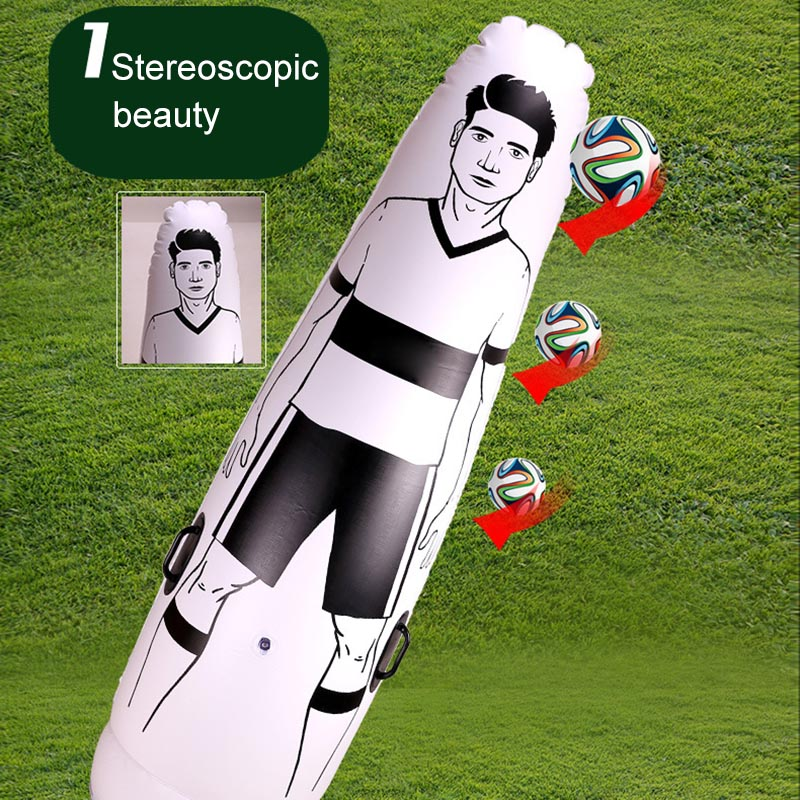 1.75m Adult Children Inflatable Football Training Goal Keeper Tumbler Air Soccer Train Dummy FG66