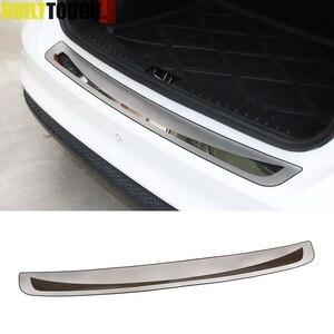 Image 1 - Osłona tylnego zderzaka Deck krok Panel osłona buta nadające się do Toyota Corolla E170 2014 2015 2016 2017 listwa progowa wykończenie bagażnika ze stali nierdzewnej