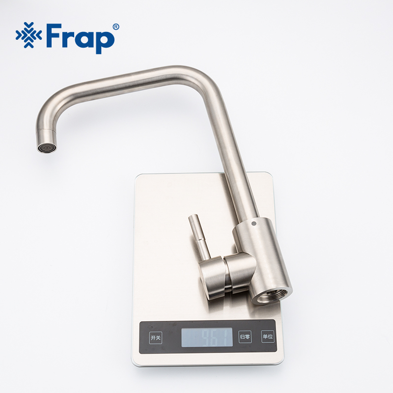 Image 5 - Frap Stainless Steel Kitchen Faucet Brushed Process Swivel Basin Faucet 360 Degree Rotation Hot & Cold Water Mixers Tap Y40107/8Kitchen Faucets   -
