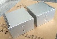 Mono Block Power Amplifier Chassis White Aluminum Enclosure 2PCS/1Set