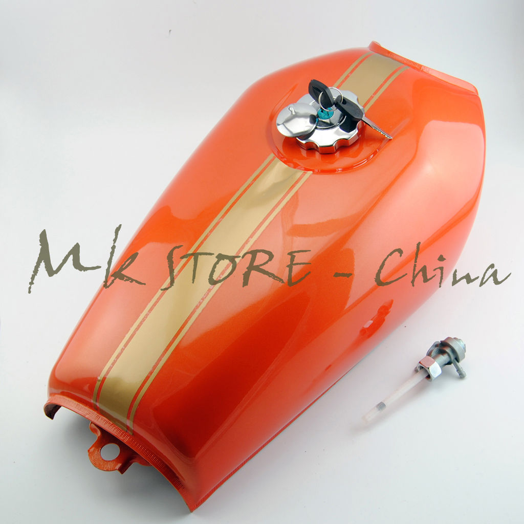 online shop 2017 new orange style motorcycle vintage gas fuel tank