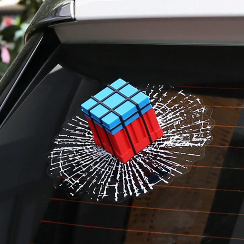 Automobile Window Sticker Ball Hit Car Body Funny 3D Stickers iTimo Car Decal