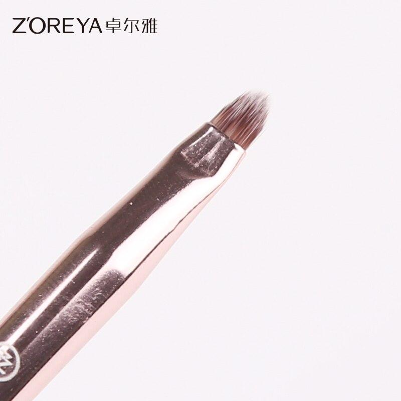 Zoreya 10 pçs rosa ouro cristal pincéis