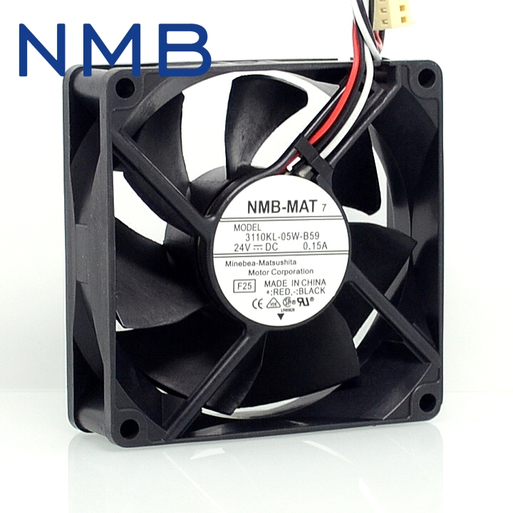 2pcs New and Original 3110KL-05W-B59 8025 8cm 24V 0.15A fan drive stall warning for NMB 80*80*25mm