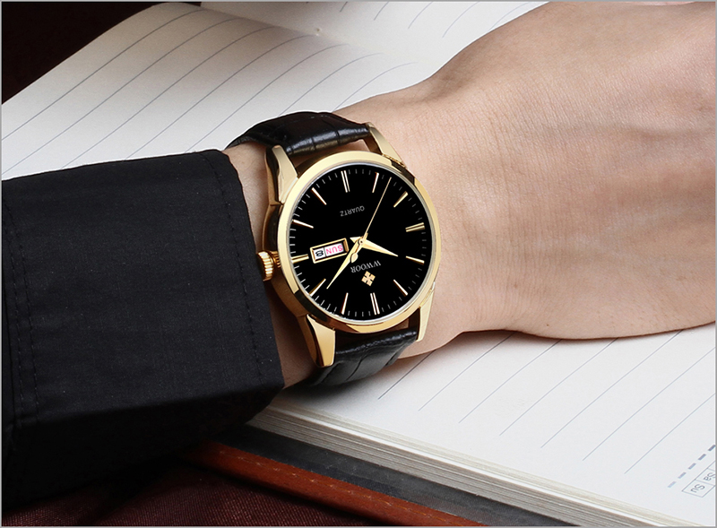 WWOOR 2019 Men\`s Watch Top Brand Luxury Sport Watch Men Quartz Gold Watches Genuine Leather Watch For Men relogio masculino (14)