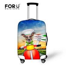 Mignon élastique chien imprimé Animal de protection cache – bagages pour voyage 18 – 30 polegada chariot valise poussière housse de pluie bagages accessoires