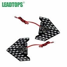 Leadtops 2 шт. 33 SMD LED Arrow панели автомобилей зеркала сигнал поворота Световые индикаторы последовательное желтый/красный/синий/ зеленый/Белый быть
