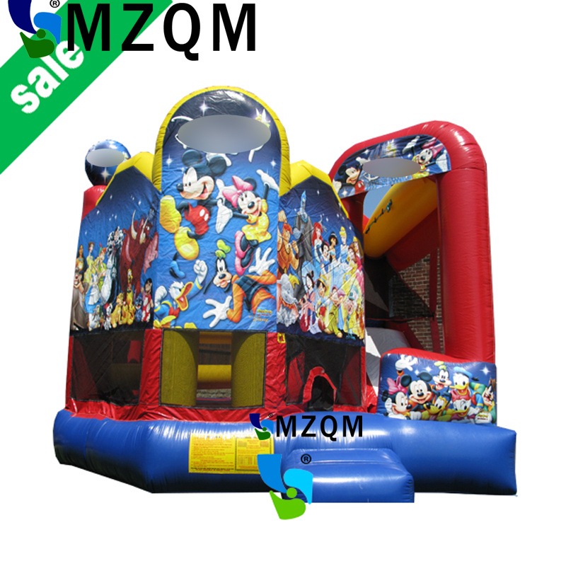 MZQ 6mL*6mW commercial grade kids/adults inflatable castle combo, princess bouncy bounce jumping castle funny summer inflatable water games inflatable bounce water slide with stairs and blowers