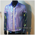 MJ Michael Jackson lucency Shirt BLUE SEE-THROUGH - THIS IS IT SHIRT Any Size