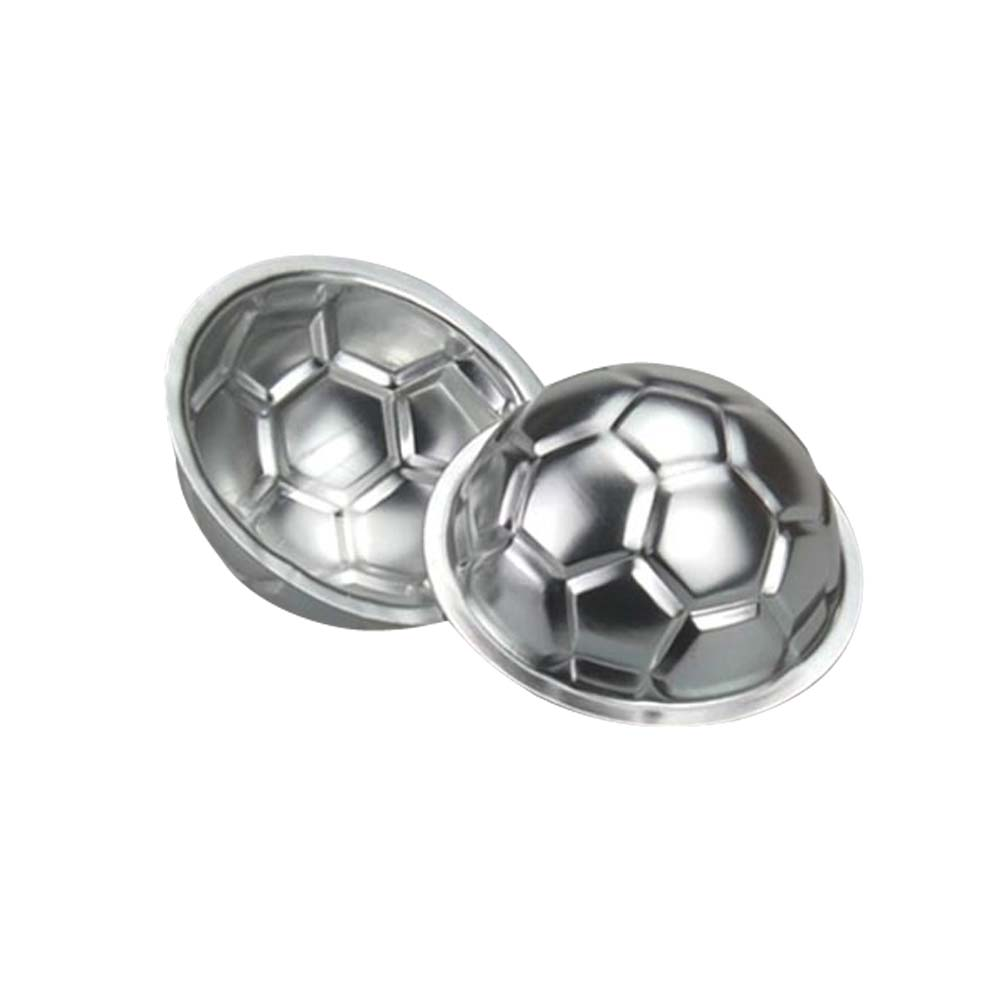 New Creative Soccer Shaped DIY Non-toxic Aluminum Birthday Cake Baking Jello Chocolate Football Pan Cake Mold BS