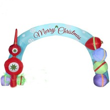 free fans  Christmas   airblown inflatable archway with gift boxes  for decoration  holiday events