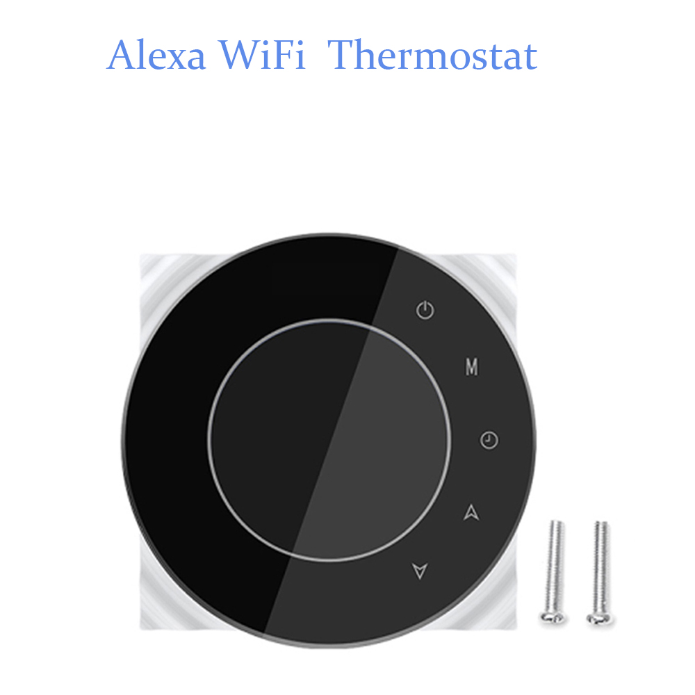 Smart WiFi Thermostat Gas Boiler Heating Thermostat Programmable Temperature Controller Works with Alexa Google Home 95-240V valve radiator linkage controller weekly programmable room thermostat wifi app for gas boiler underfloor heating