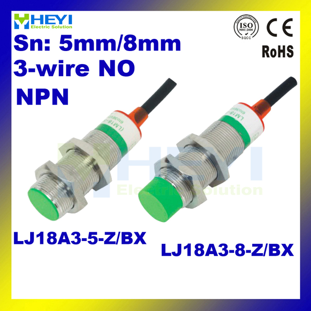 lj18a3 8 z bx npn 3 wire no metal induction proximity sensor dc rh aliexpress com