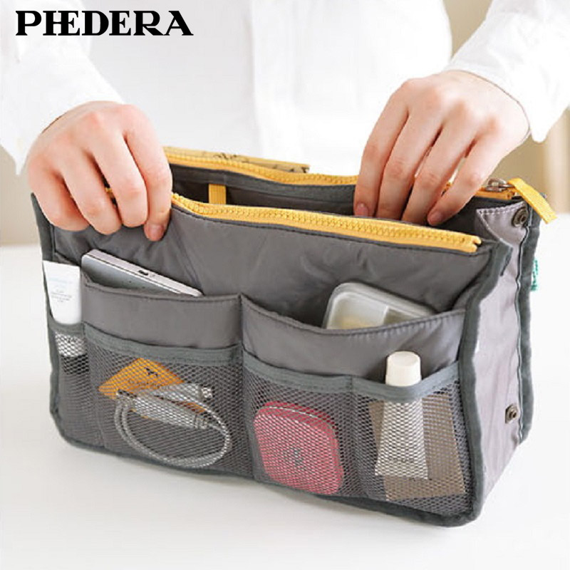 Hot Sale Korean Style Cosmetic Bags Cases Multifunction Nylon Makeup Bag High-Capccity Travel Storage Bag Purse Organizer Bags