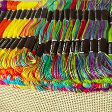 100 мотки галстук-краситель шнур для дружбы браслет вечерние плетение колеса внутри