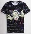 [ Mikeal ] математика наука футболка для мальчика / девочки графический 3d майка мужчин / женщин забавный печать футболка энштейн свободного покроя топы 1860