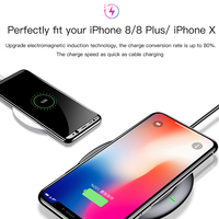 Baseus UFO Wireless Charger For iPhone X 8 Samsung Note8 S9 S8 Mobile Phone 10W Qi Wireless Charging Charger Fast Charging Pad 4