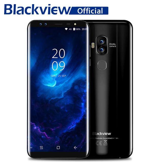 Blackview S8 Four Cameras 18:9 Smartphone 4G RAM 64G ROM 5.7 Inch MT6750T Octa Core 1440*720 4G LTE Fingerprint OTG Mobile Phone