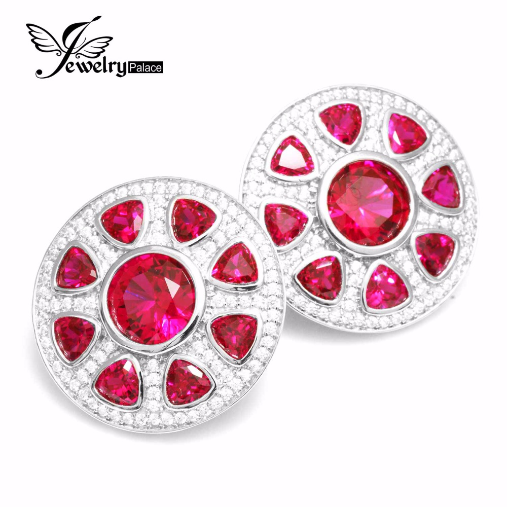 Здесь продается  A Pair of Ultra Big Pigeon Blood Created Ruby Clip Earrings 925 Solid Sterling Silver Luxury Brand New Fine Jewelry Outstanding  Ювелирные изделия и часы