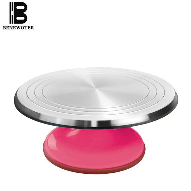 31cm Aluminum Alloy Baking Tools Cake Decorating Base Turntable Platform Round Rotating Revolving Cakes Stand Swivel Plate