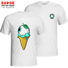 Enjoy Mint Icecream All The Time T-shirt Funny Punk Hip Hop T Shirt Pop Brand Skate Women Men Double Sided Cotton White Top Tee