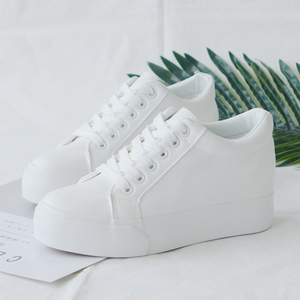 Image 2 - Fashion Platform Sneakers New Autumn Women Shoes For Woman Casual Shoes Wild Platform Heels Female Leisure Women White Sneakers