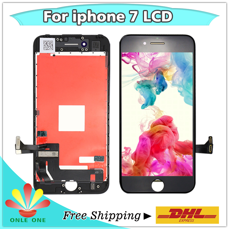 10pcs lot Top Quality LCD Screen Digitizer Touch Display for iPhone 7 7G Replacement black and
