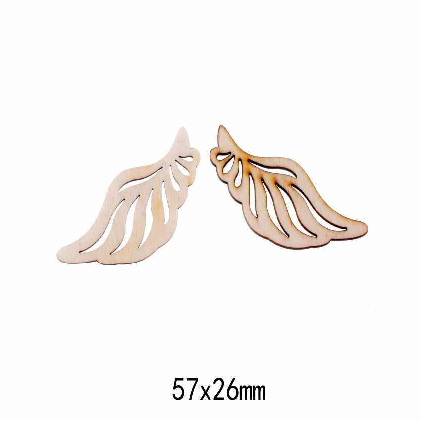 Meilleure qualité Flatback bois artisanat décoration Promotions Scrapbooking embellissements Styles mixtes pendentifs