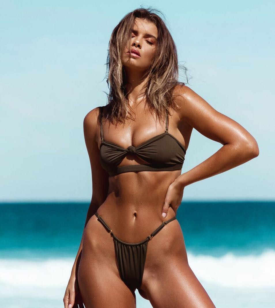 4f7daa7faccf9 Bikinis sexy bow knotted tie bikini micro thong swimsuit push up high leg  sheer bikini jpg