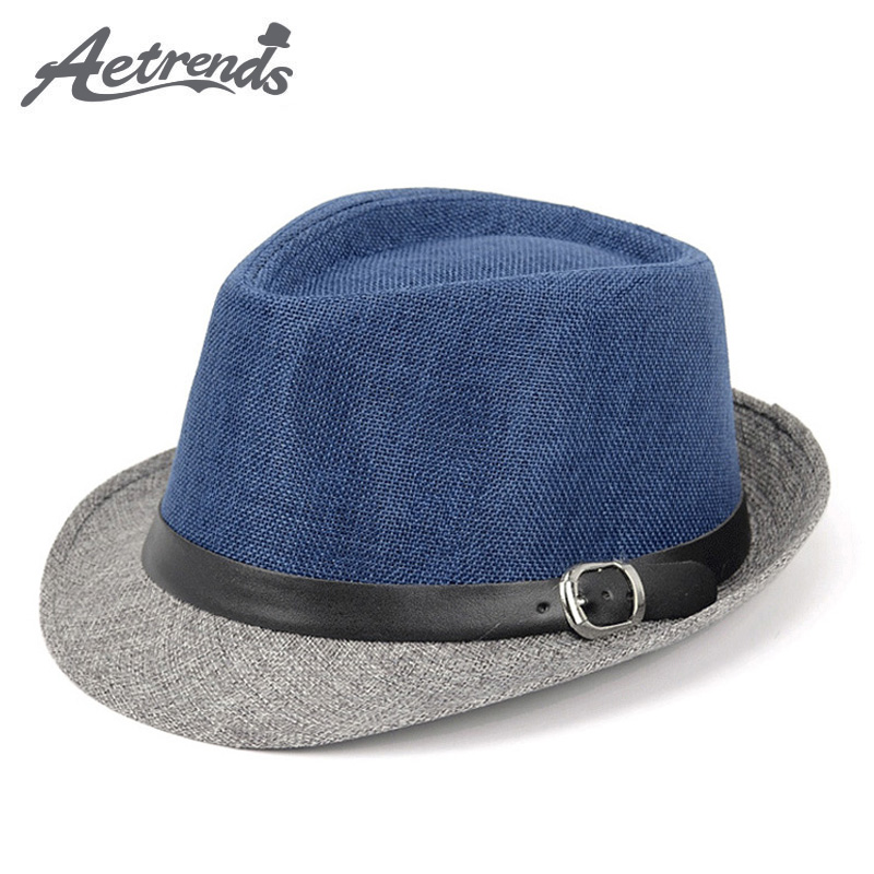 [AETRENDS] 2017 New Men's Jazzhoed Panama Pet Fedora Hoeden Z-5310