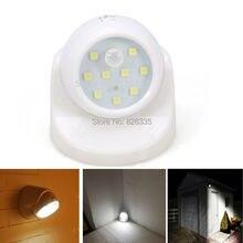 Security 9 LED Led Motion Sensor Night Light 360 Degree Rotation Children's Nightlight Auto PIR Detector Lamp