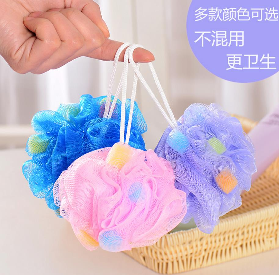 Bath ball/bath brush/bath flower color bath sponge ball rub zao back rubs clean towel super large free shipping