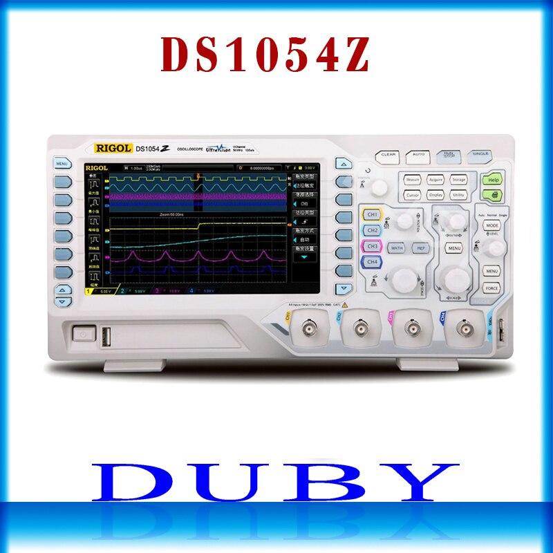 DS1054Z Original RIGOL Siglent 50 MHz Digital Oscilloscope 4 canais analógicos 50 MHz de largura de banda de 12 de Memória 2mpts Digital Scopemeter