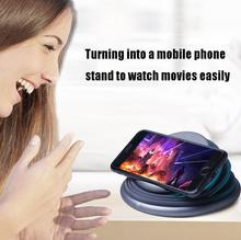 DSstyles Foldable LED Light Destop 10W Qi Fast Wireless Phone Charger Stand for iPhone X XS Max XR 8 Plus for Samsung S8 S9/S9+ Note 9 8