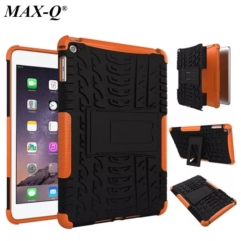 MAX-Q Heavy duty Defender Armor Plastic + TPU Case Cover For Apple iPad mini 4 Tablet Shockproof Case free Screen protector