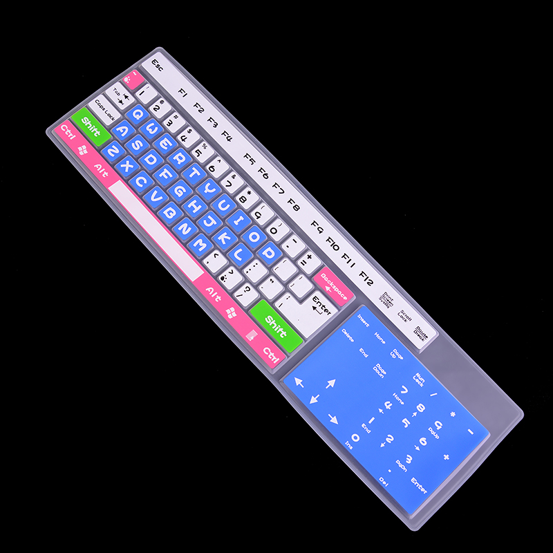 1pcs Rainbow Color Silicone Keyboard Cover Protector Skin For Desktop Computer Soft Anti-scratch Keyboard Stickers