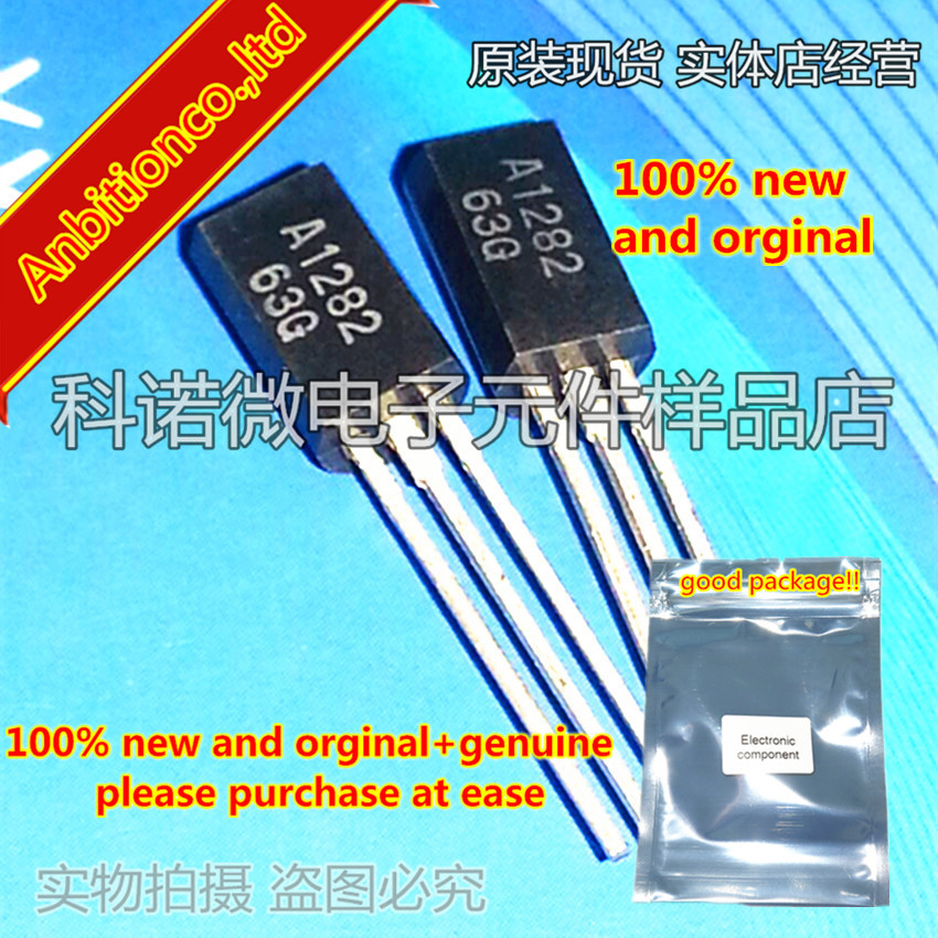 10pcs 100% New And Orginal   2SA1282 A1282 TO-92L FOR LOW FREQUENCY POWER AMPLIFY APPLICATION SILICON PNP EPITAXIAL In Stock