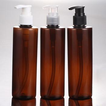 Free Shipping 30pcs/lot 250ml  pump bottle emulsion bottling cosmetics packaging bottle  PET plastic bottle for trial of shampoo